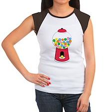 Bubble Gum Unique Graphic Women's Cap Sleeve T-Shi
