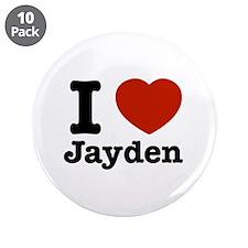 """I love Jayden 3.5"""" Button (10 pack)"""
