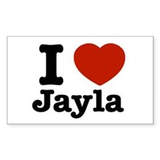 I love Jayla Rectangle Decal