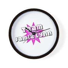 Team Jamie Lynn Wall Clock