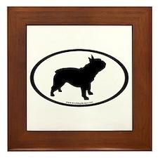French Bulldog Oval Framed Tile