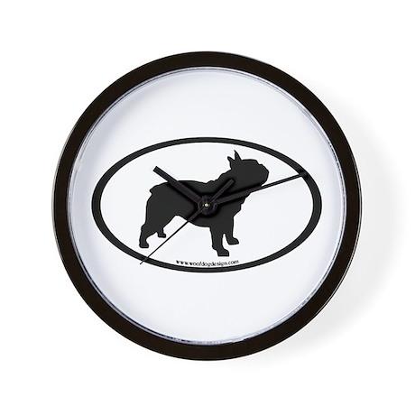 French Bulldog Oval Wall Clock
