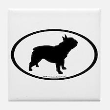 French Bulldog Oval Tile Coaster