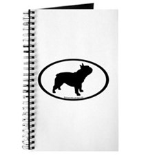 French Bulldog Oval Journal