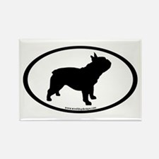 French Bulldog Oval Rectangle Magnet