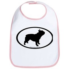French Bulldog Oval Bib