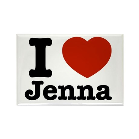 I love jenna Rectangle Magnet (10 pack)