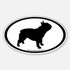French Bulldog Oval (inner border) Decal