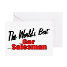 """""""The World's Best Car Salesman"""" Greeting Cards (Pk"""
