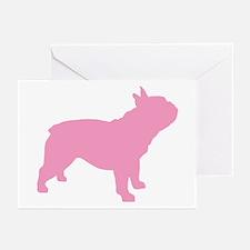 Pink French Bulldog Greeting Cards (Pk of 20)