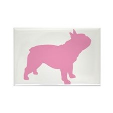 Pink French Bulldog Rectangle Magnet (10 pack)