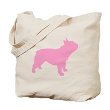 Pink French Bulldog Tote Bag