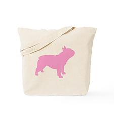Pink French Bulldog Tote Bag