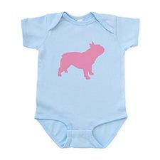 Pink French Bulldog Infant Bodysuit