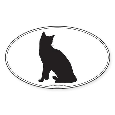 Snowshoe Silhouette Oval Sticker