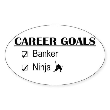 Banker Career Goals Oval Sticker