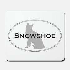 Snowshoe Oval Mousepad