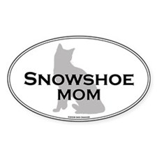 Snowshoe Mom Oval Decal