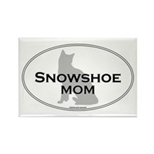 Snowshoe Mom Rectangle Magnet