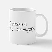 Possum ate Homework Mug