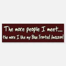 More People Blue Fronted Amazon Bumper Bumper Bumper Sticker