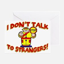 Stranger Danger Greeting Card
