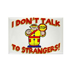 Stranger Danger Rectangle Magnet (100 pack)