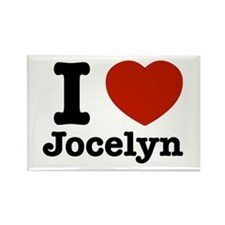 I love Jocelyn Rectangle Magnet