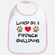 Loved By A French Bulldog Bib