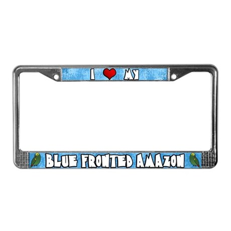 Crtn Love Blue Fronted Amazon License Plate Frame