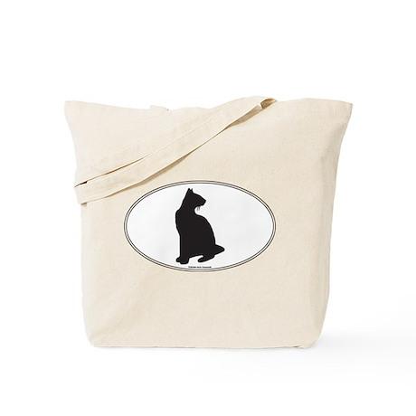Siamese Silhouette Tote Bag