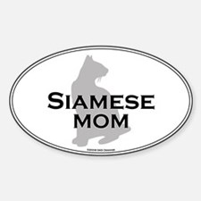 Siamese Mom Oval Decal
