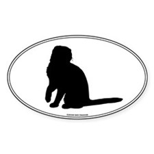 Scottish Fold Silhouette Oval Decal
