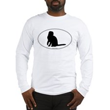 Scottish Fold Silhouette Long Sleeve T-Shirt