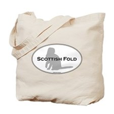 Scottish Fold Oval Tote Bag