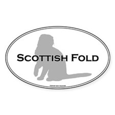 Scottish Fold Oval Oval Decal