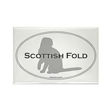 Scottish Fold Oval Rectangle Magnet