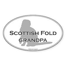Scottish Fold Grandpa Oval Decal