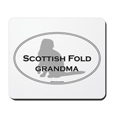 Scottish Fold Grandma Mousepad