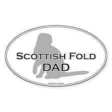 Scottish Fold Dad Oval Decal