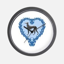 Greyhound Valentine Wall Clock