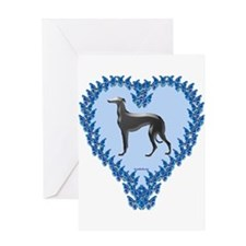 Greyhound Valentine Greeting Card