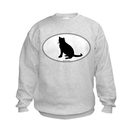 Russian Blue Silhouette Kids Sweatshirt