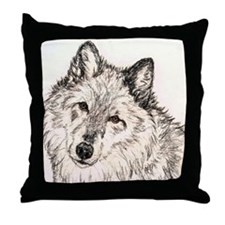 Alpha Female Wolf Throw Pillow