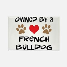 Owned By A French Bulldog Rectangle Magnet