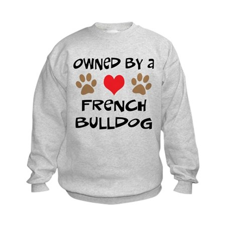 Owned By A French Bulldog Kids Sweatshirt
