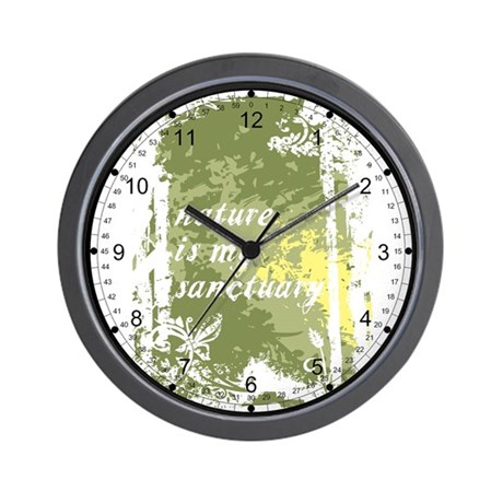 Nature Is My Sanctuary Wall Clock