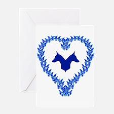 Blue Dobe Heart Greeting Card