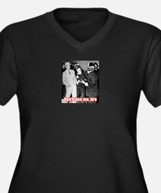 Funny John f kennedy glass shaker Women's Plus Size V-Neck Dark T-Shirt