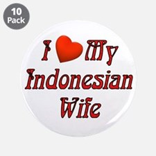 "I Love My Indo Wife 3.5"" Button (10 pack)"